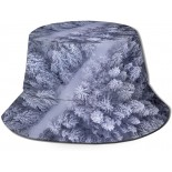 Qingyou Snow Covered Trees Fisherman Hat Leisure Bucket Hat Unisex Breathable Sun Hat  B092W3S1WC