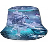 XISB2SDH Beautiful Fairy and Mushrooms Fisherman Hat Sun Protection Packable for Summer Outdoor Traveling  B091812PYK